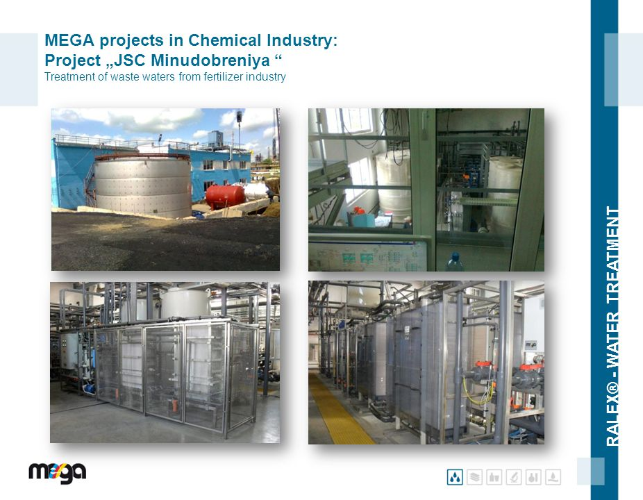 "RALEX® - WATER TREATMENT MEGA projects in Chemical Industry: Project ""JSC Minudobreniya "" Treatment of waste waters from fertilizer industry"