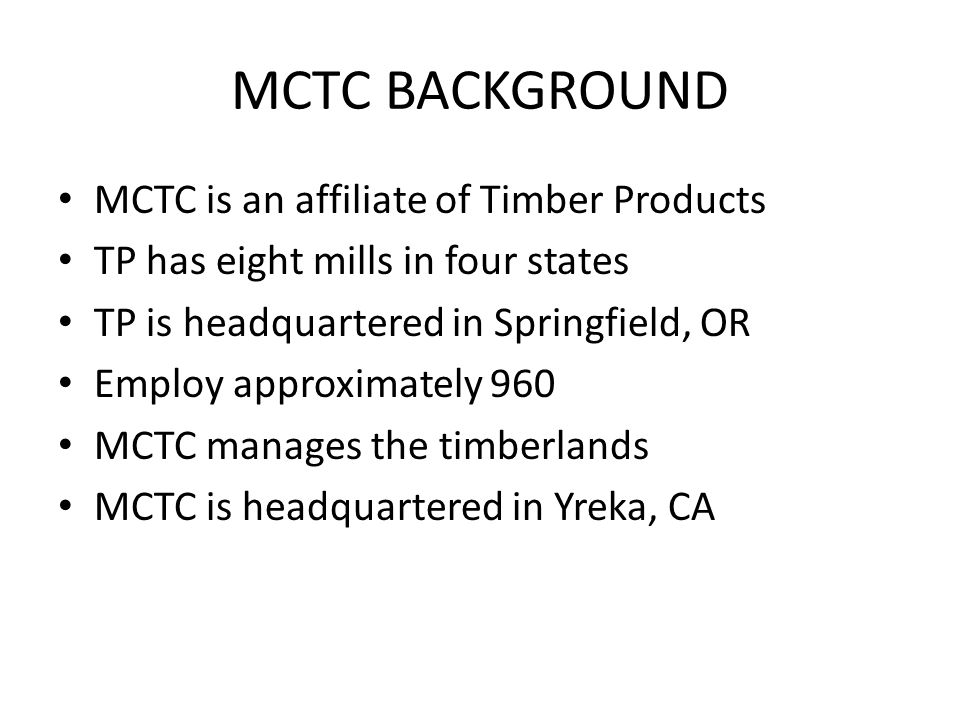 NSO Range and MCTC Ownership