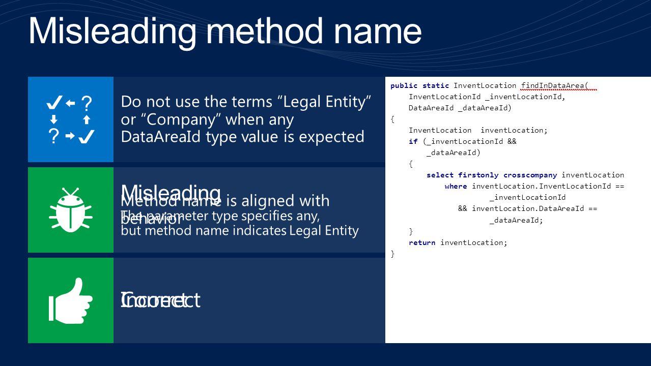 public static InventLocation findInLegalEntity( InventLocationId _inventLocationId, DataAreaId _dataAreaId) { InventLocation inventLocation; if (_inve