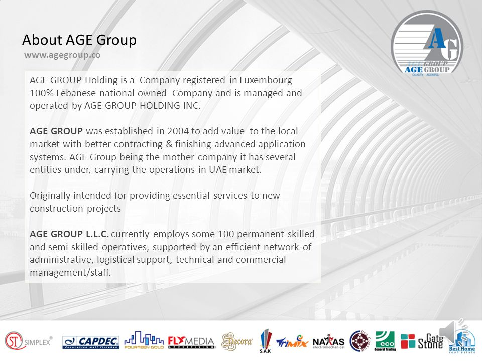 Company Introduction www.agegroup.co