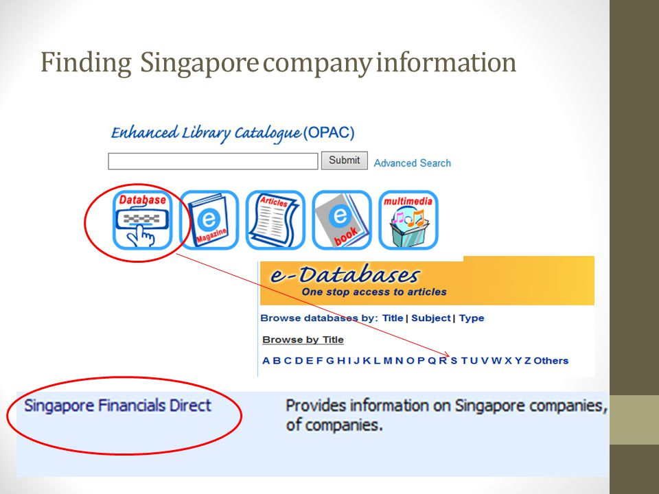 Finding Singapore company information