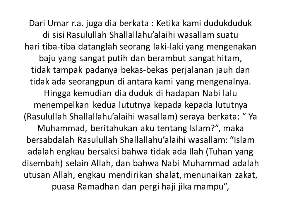 Dari Umar r.a.