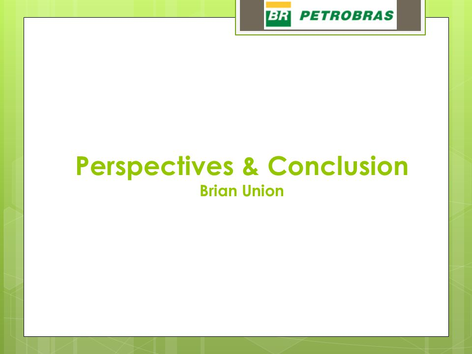 Perspectives & Conclusion Brian Union