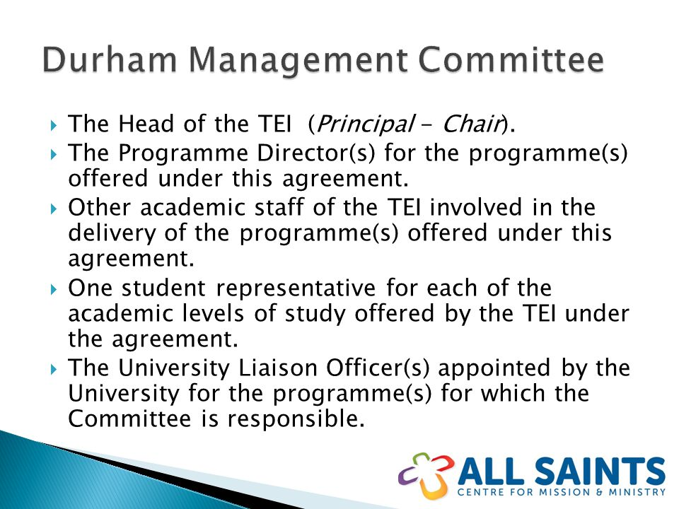  The Head of the TEI (Principal - Chair).