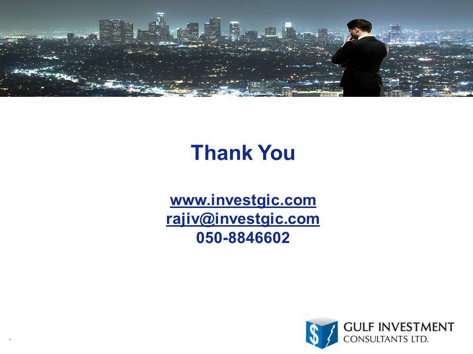 * Thank You www.investgic.com rajiv@investgic.com 050-8846602