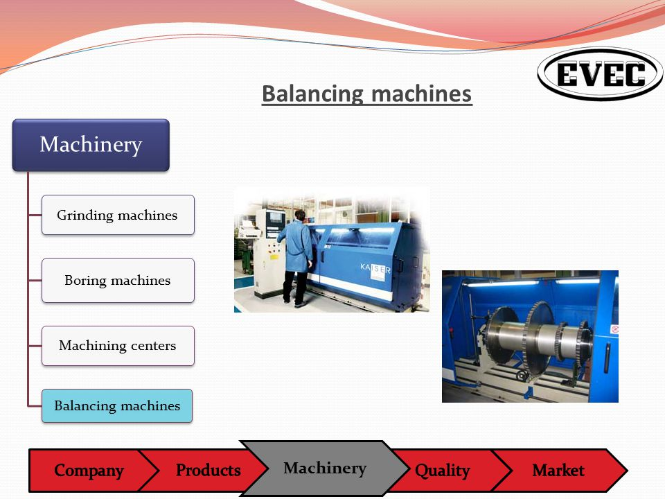 Machinery Balancing machines Machinery Grinding machines Boring machines Machining centers Balancing machines