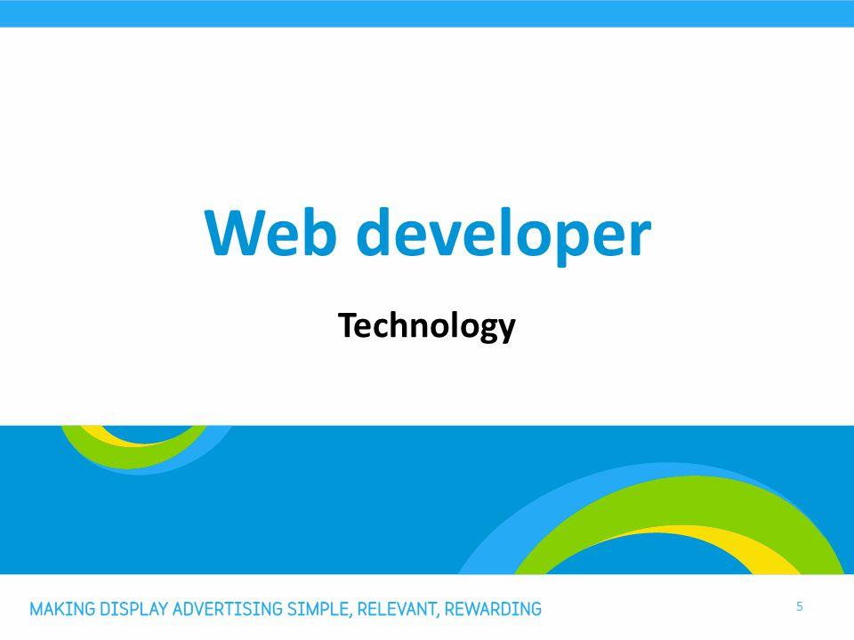 Web developer Technology 5