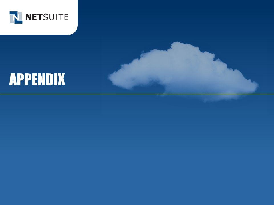 APPENDIX © NetSuite Inc. 2013