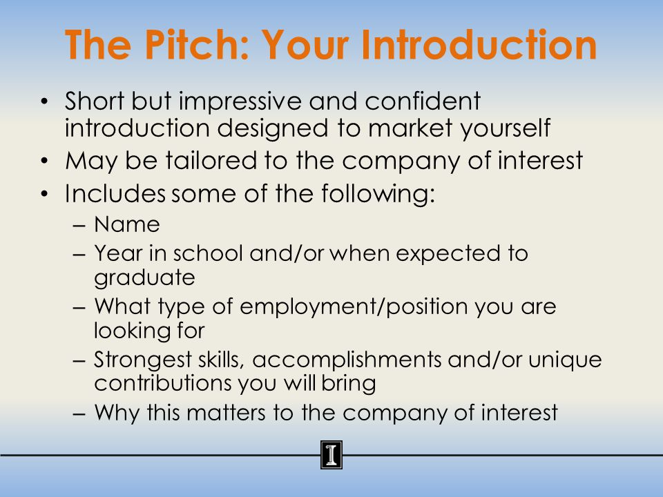 The Pitch- Do's & Don't's EXAMPLE