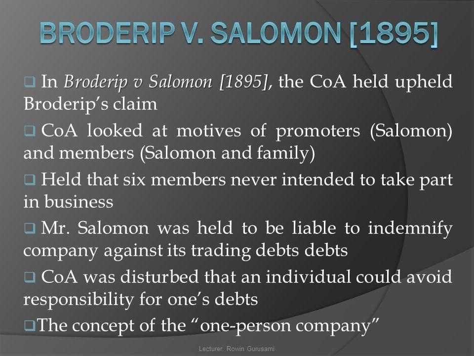 salomon v salomon case