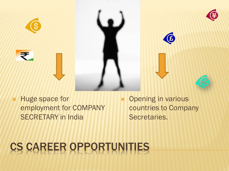  Huge space for employment for COMPANY SECRETARY in India  Opening in various countries to Company Secretaries.