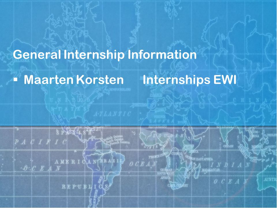 Let's Go Internships information session Task description and supervision  Supervisor at the company (stagebegeleider)  Task (problem) description from the company  UT supervisor from one of the chairs who knows about the subject (stagedocent)  UT supervisor must approve the task description