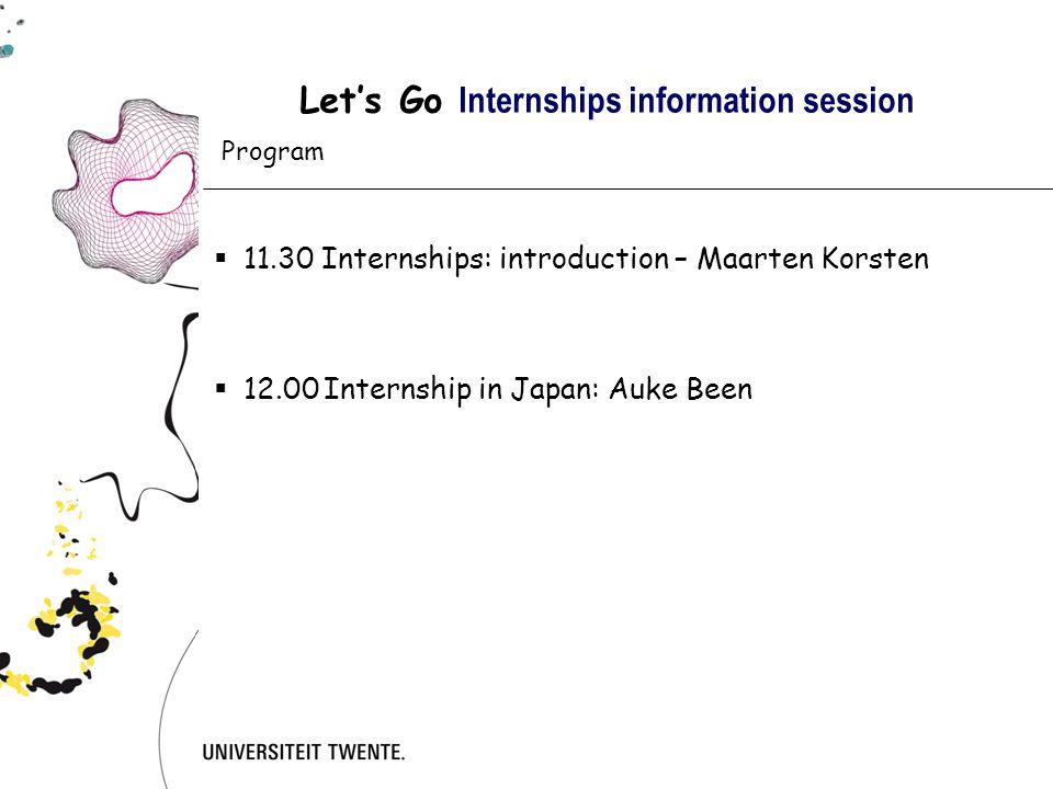 Let's Go Internships information session  Why an internship.
