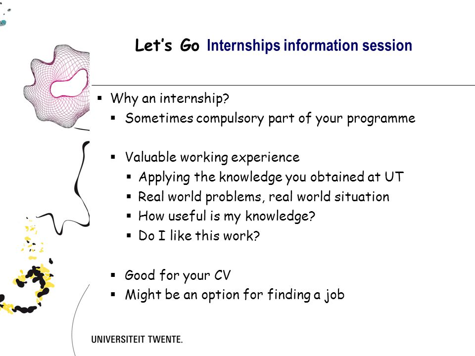 Let's Go Internships information session  Why going abroad for your internship.