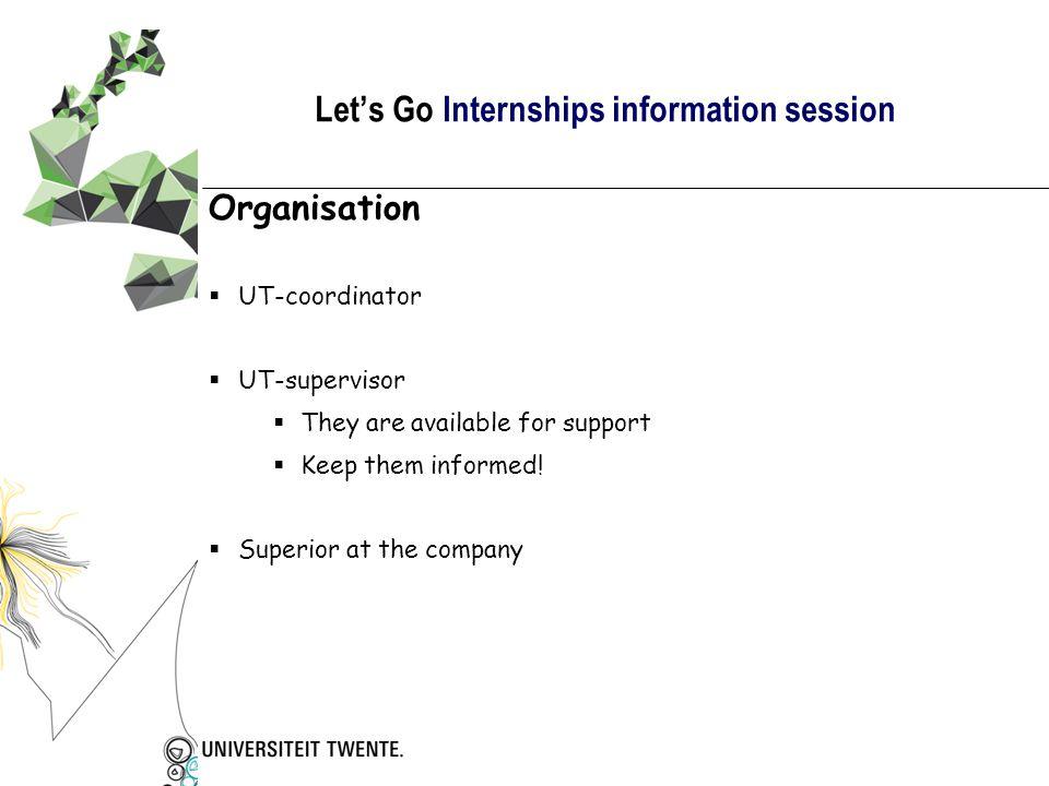 Let's Go Internships information session Have a good trip!