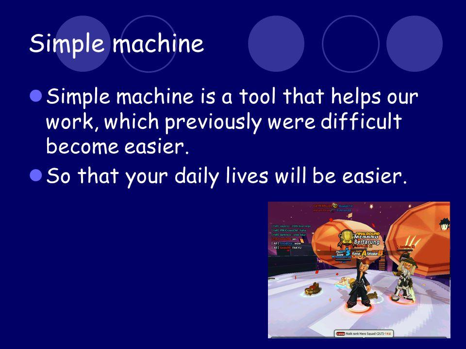 Result Wheel and axle kincir, contohnya kincir angin, kipas angin, setir mobil, dan ban.