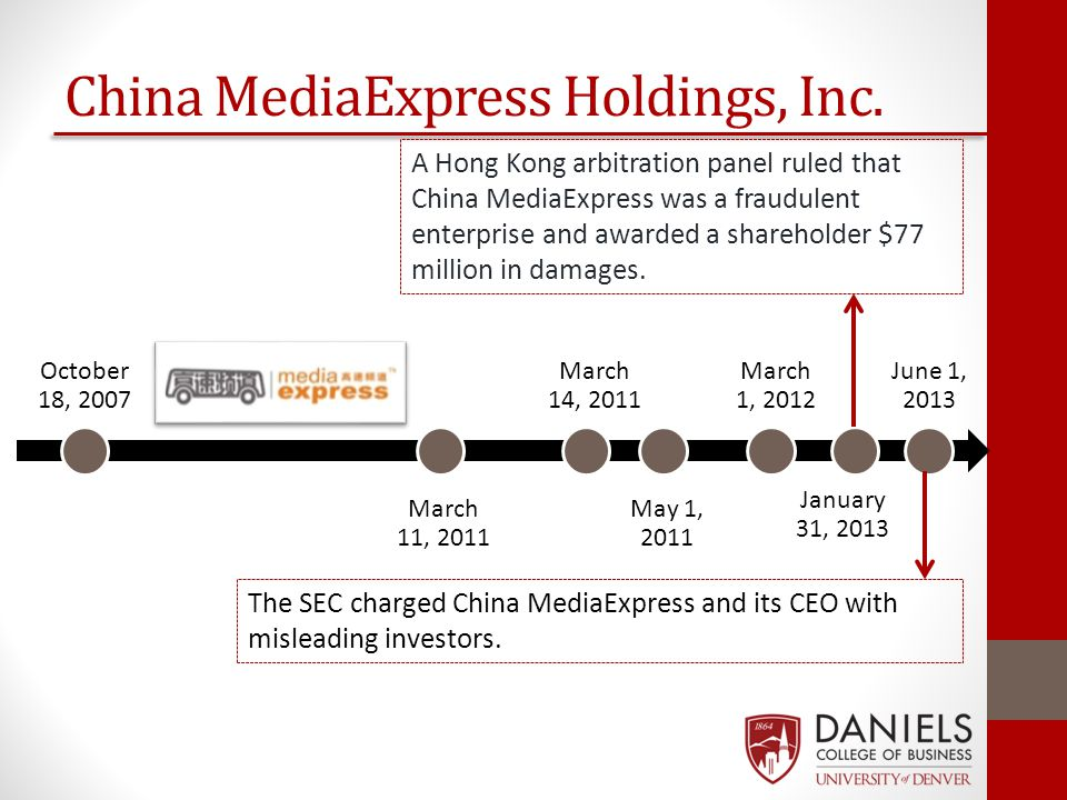 October 18, 2007 May 1, 2011 March 14, 2011 March 11, 2011 March 1, 2012 January 31, 2013 June 1, 2013 China MediaExpress Holdings, Inc. A Hong Kong a