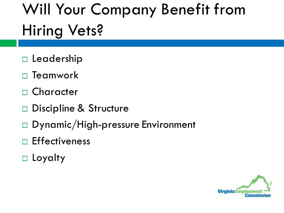  Leadership  Teamwork  Character  Discipline & Structure  Dynamic/High-pressure Environment  Effectiveness  Loyalty
