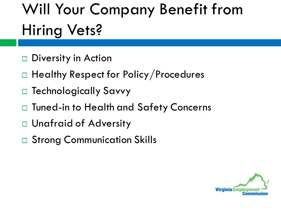Will Your Company Benefit from Hiring Vets.