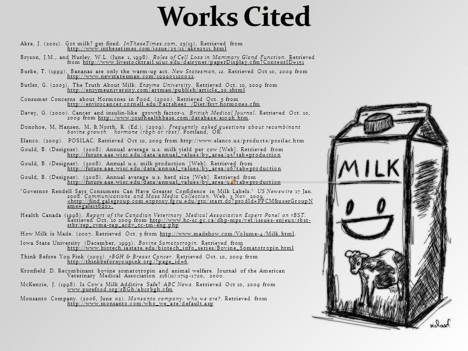 Akre, J. (2001). Got milk. get fired.