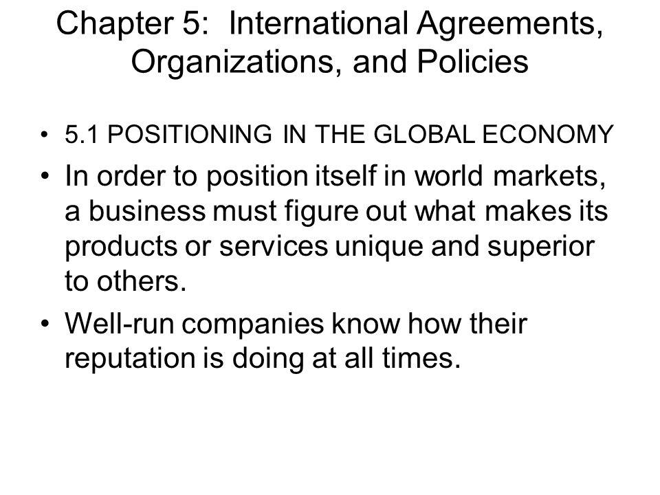 Strategies toward Global Positioning 1.