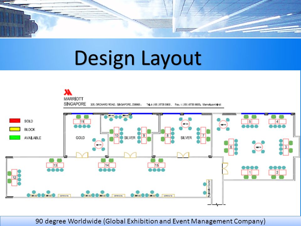 Design Layout 90 degree Worldwide (Global Exhibition and Event Management Company)