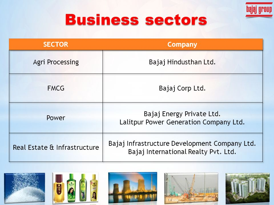 Business sectors
