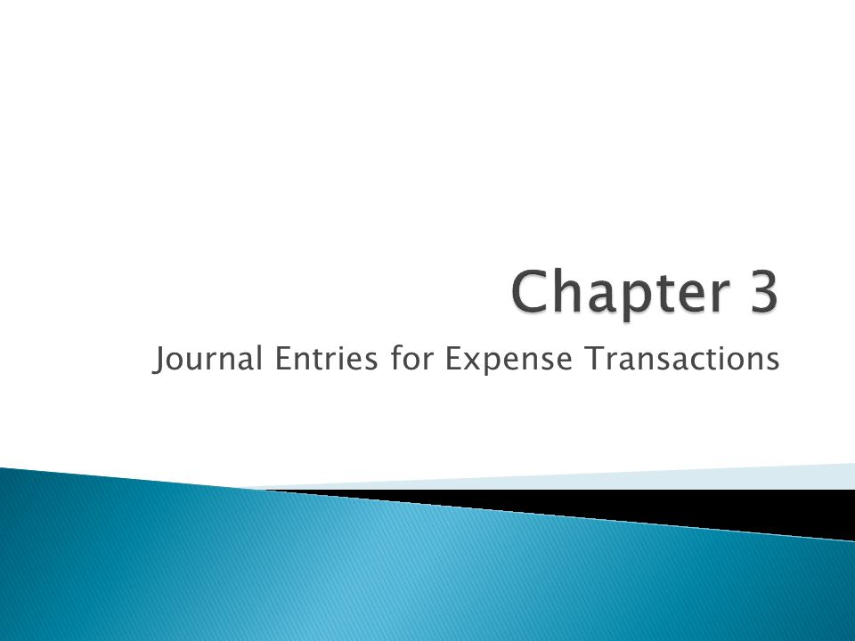 Journal Entries for Expense Transactions