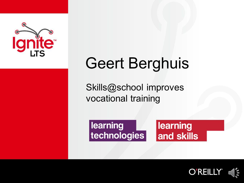 Geert Berghuis Skills@school improves vocational training
