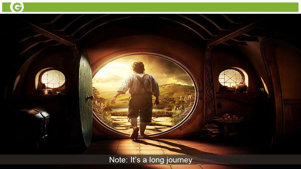Note: It's a long journey