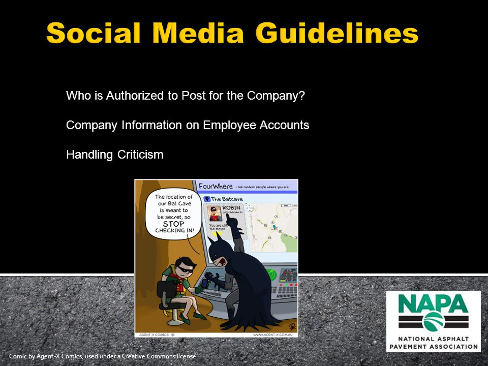 Who is Authorized to Post for the Company.