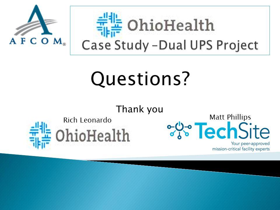 Matt Phillips Rich Leonardo Questions? Thank you