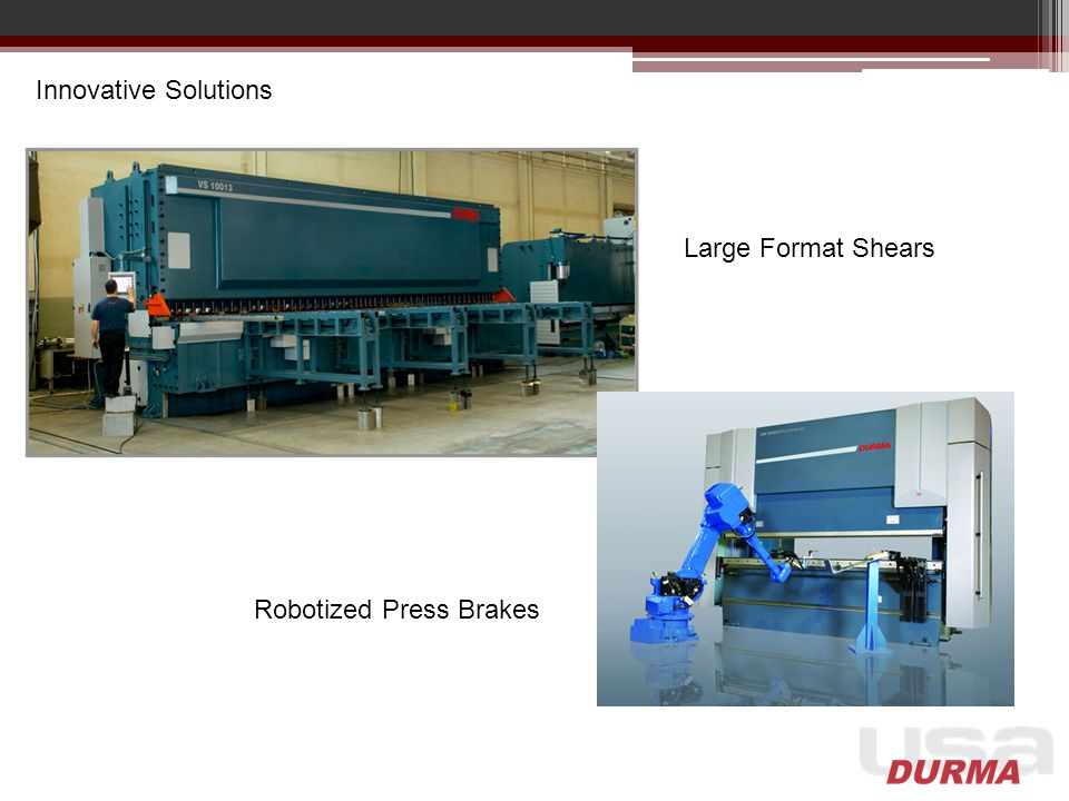 Innovative Solutions Large Format Shears Robotized Press Brakes
