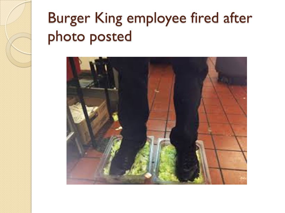 Burger King employee fired after photo posted