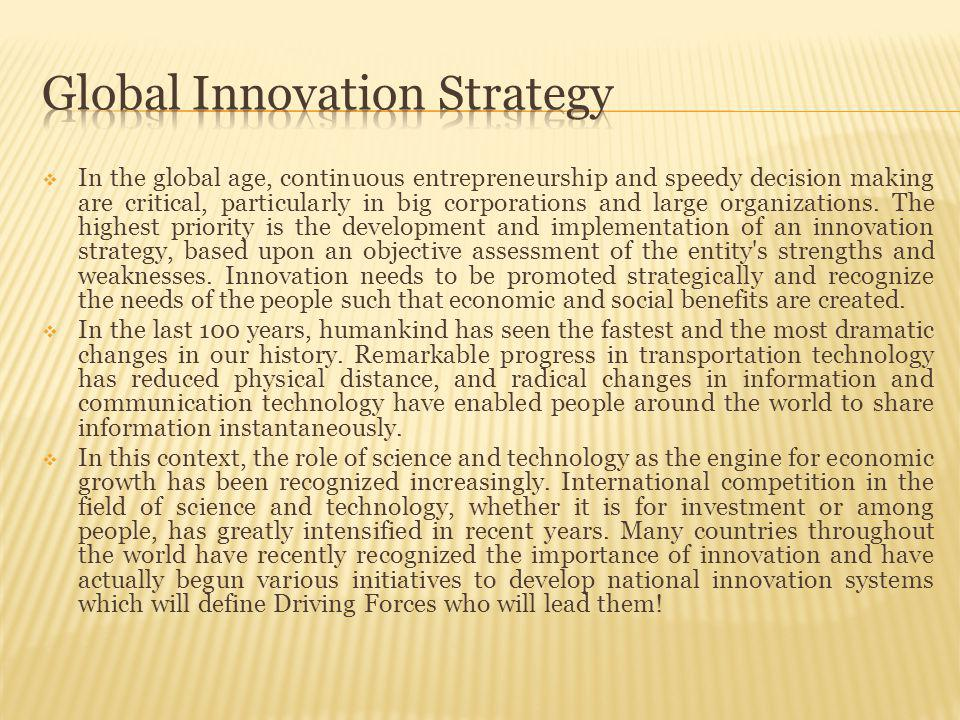 To not forget .Business by itself is not a driving force for innovation.