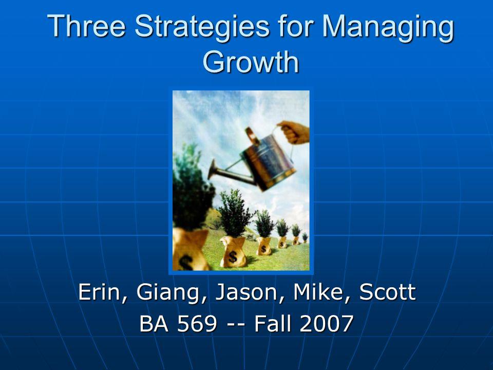 Agenda The Three Strategies: Scaling -- Giang Scaling -- Giang Duplication -- Mike Duplication -- Mike Granulation -- Scott Granulation -- Scott Combining -- Erin Combining -- Erin