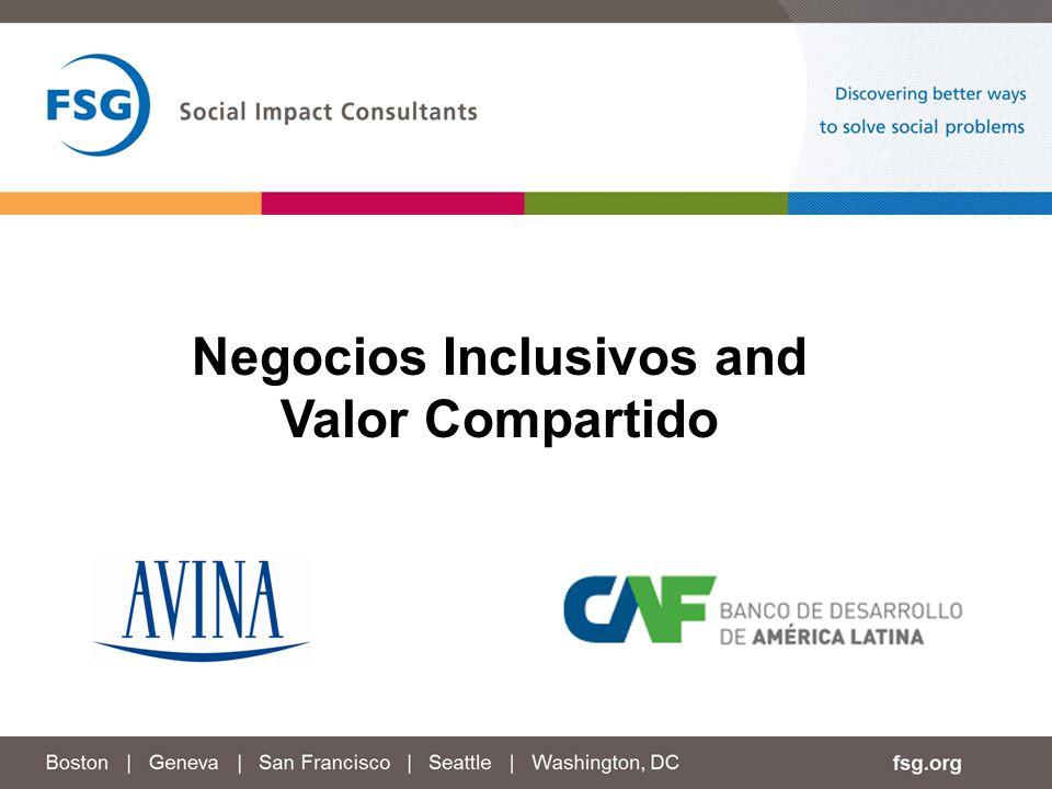 Negocios Inclusivos and Valor Compartido