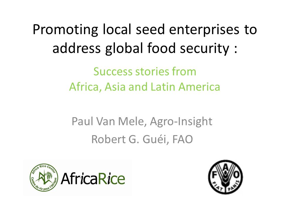1.Multinationals cannot handle seed of all crops 2.Public sector still has an important role to play in the development of the seed sectors of non-hybrids crops 3.Strong public-private partnerships are key to success Part 4: Conclusion