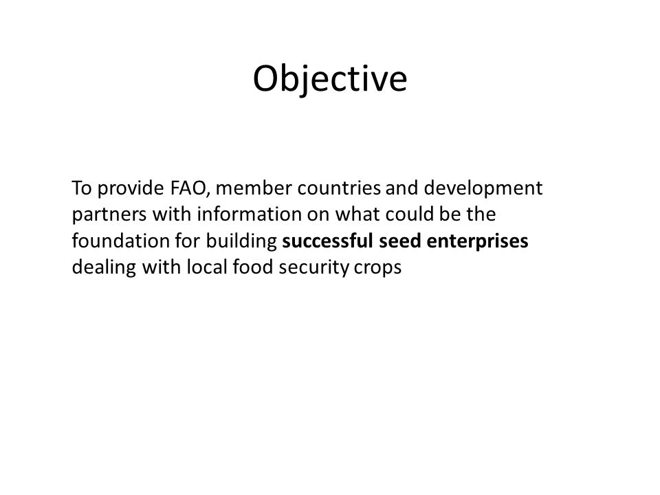 Seed enterprises continuously need new varieties to stay in business The Gambia