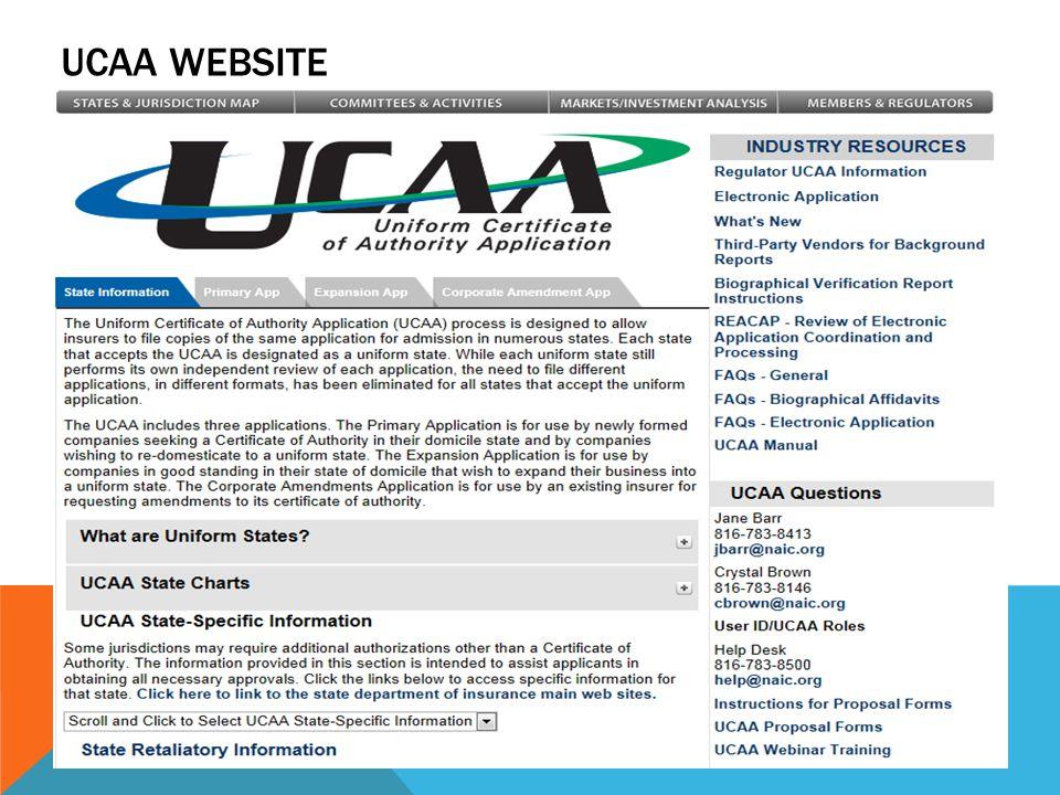 UCAA WEBSITE