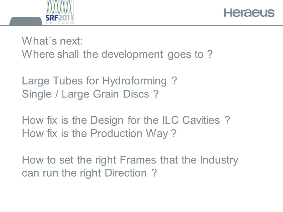 What´s next: Where shall the development goes to .