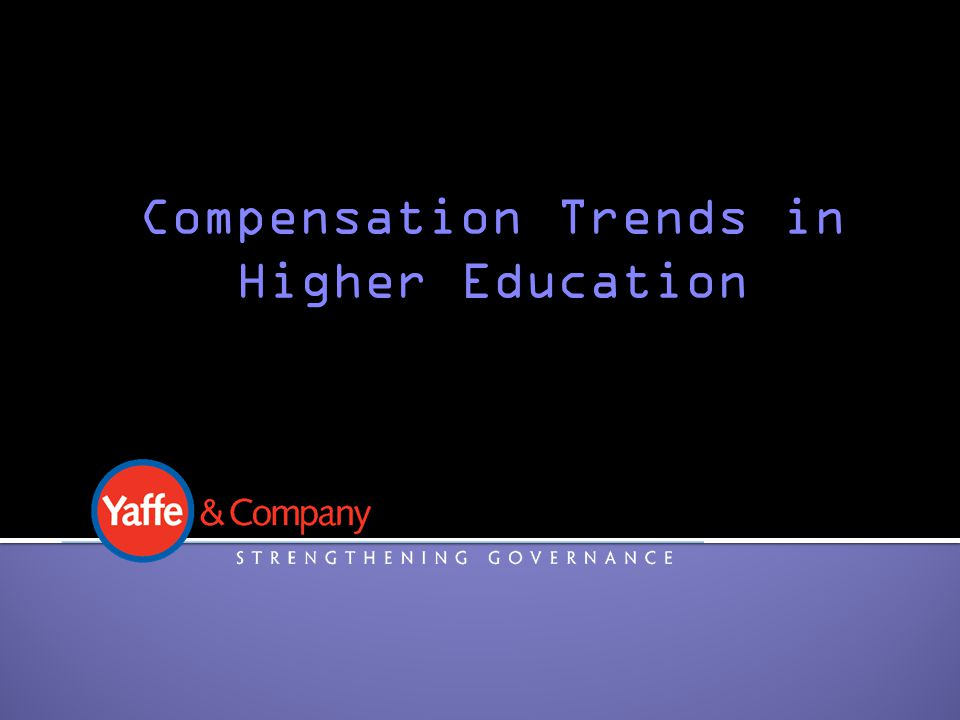 Compensation Trends in Higher Education