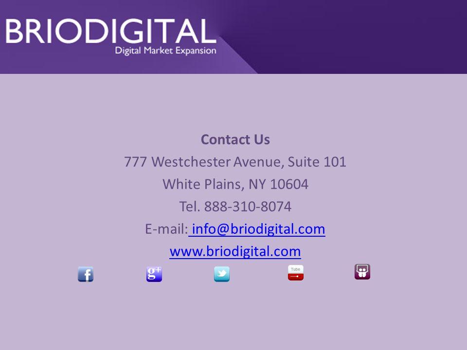 Contact Us 777 Westchester Avenue, Suite 101 White Plains, NY 10604 Tel.