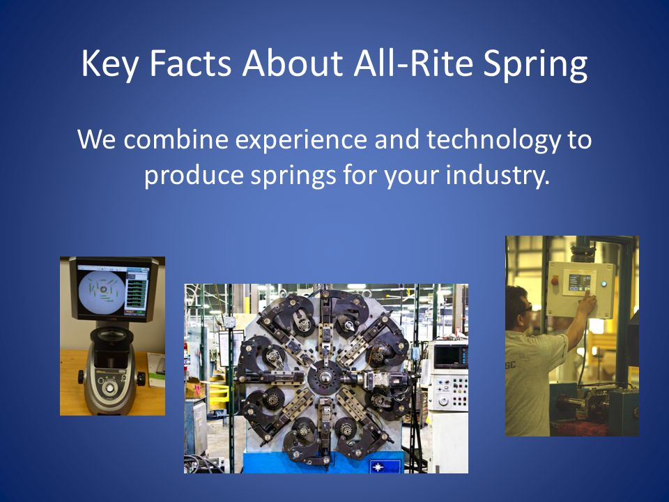 Key Facts About All-Rite Spring Compression Springs Extension Springs Torsion Springs Clock/Power Springs