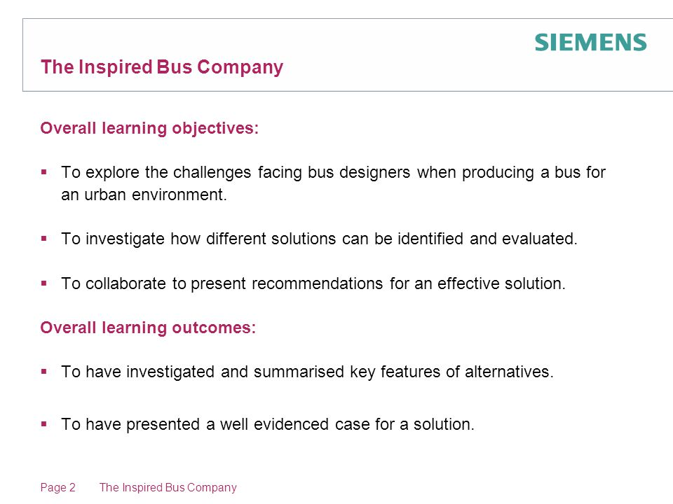 Episode 10: The Inspired Bus Company The Inspired Bus Company Route two: 'inner circle' service Page 23