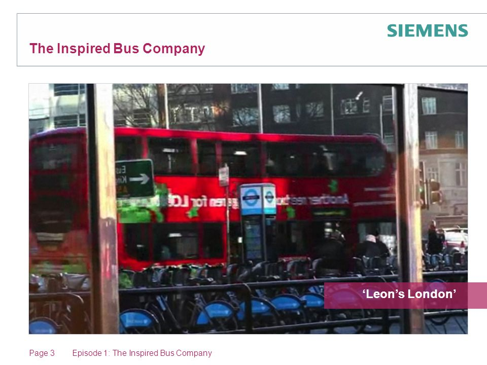 Page 3 The Inspired Bus Company 'Leon's London' Episode 1: The Inspired Bus Company