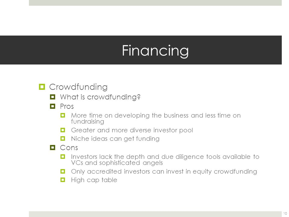 Financing  Crowdfunding  What is crowdfunding.