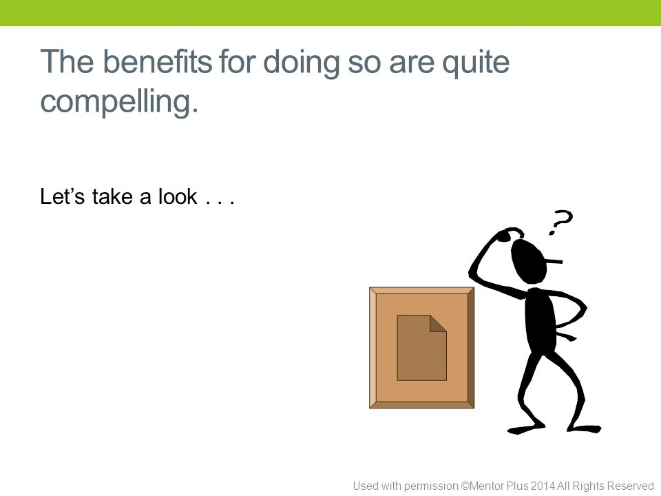 The benefits for doing so are quite compelling. Let's take a look...