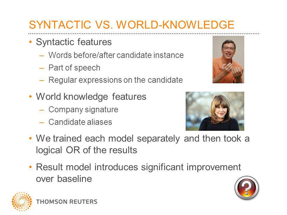 SYNTACTIC VS.