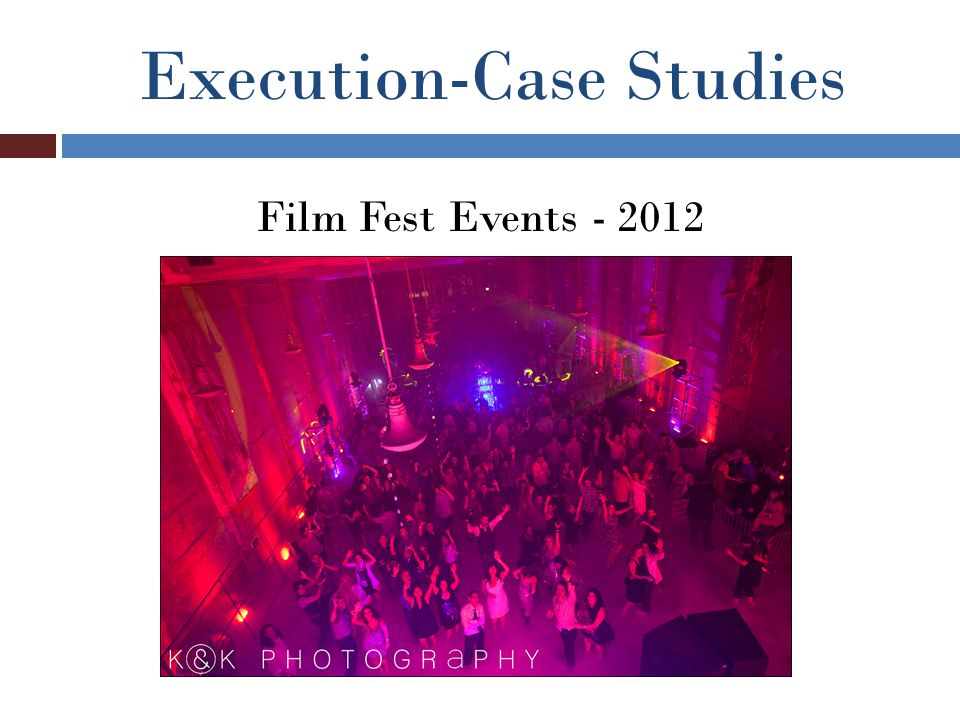 Execution-Case Studies Film Fest Events - 2012